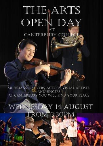 Open Day Program - Canterbury College