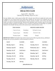 HEALTH CLUB - John Burroughs School