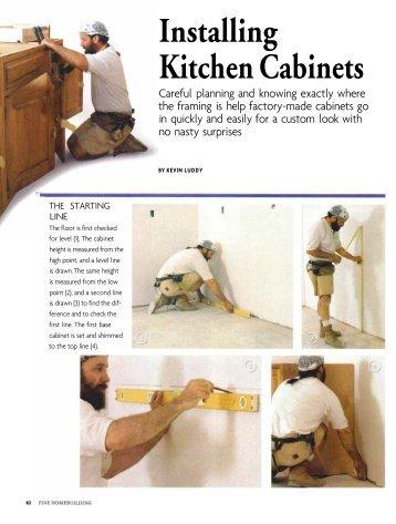 Installing Kitchen Cabinets - Fine Homebuilding