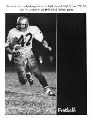 1963 team - Glendale High School