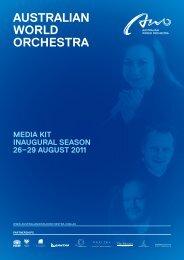 MediA releAse - Australian World Orchestra