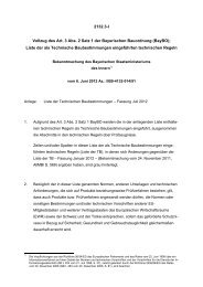 Liste der Technischen Baubestimmungen – Fassung Juli 2012