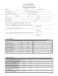 Medical History Form - University of Toledo Athletics