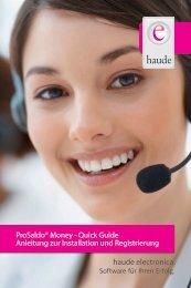 haude electronica. Prosaldo® Money - Quick Guide Anleitung zur ...