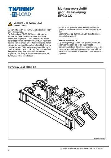 Montagevoorschrift/ gebruiksaanwijzing ERGO CK - Twinny Load