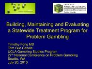 Building, Maintaining and Evaluating a Statewide Treatment ...
