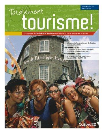 Volume 4, numéro 1 - Tourisme Québec - Gouvernement du Québec