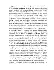 1 - - - ACTA 19.- En la ciudad de Tijuana, Baja California, siendo las ...