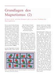 Magnetismus Teil II