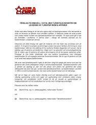 förslag på innehåll i leverans av tjäns å innehåll i avtal med ...