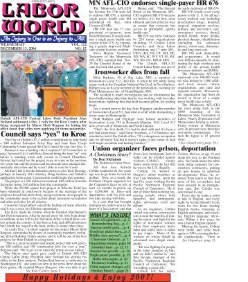 December 13, 2006 - Labor World