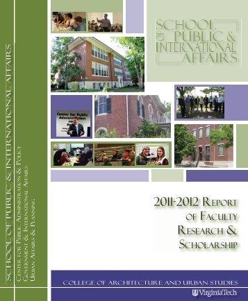 2011-2012 REPORT - School of Public and International Affairs