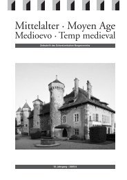 Mittelalter 4-05 - Schweizerischer Burgenverein