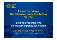 Beyond procurements, an industrial policy for Fusion - Iter Industry
