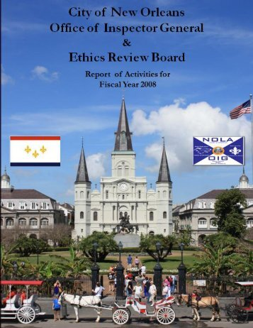 ERB OIG AR 2008.pdf - NEW ORLEANS Office of Inspector General
