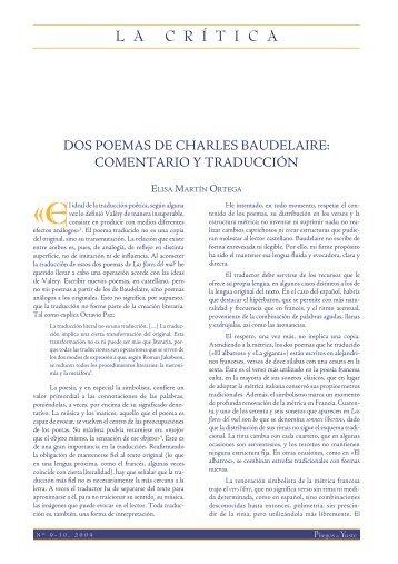 Dos poemas de Charles Baudelaire: comentarios ... - Pliegos de Yuste