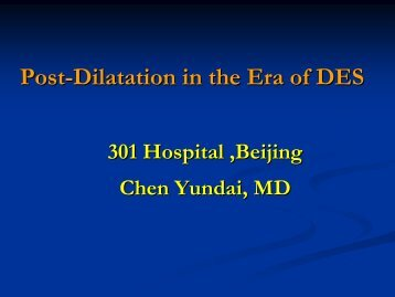 Post-Dilatation in the Era of DES