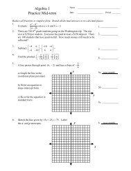 Algebra 1 Practice Mid-term - MathChamber