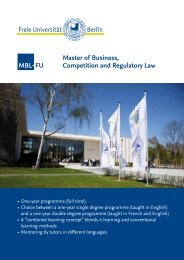 Master of Business, Competition and Regulatory Law