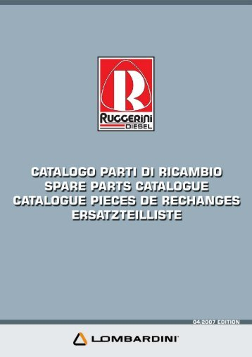 RUGGERINI spare patrs catalogue - Dynamic Business Motors