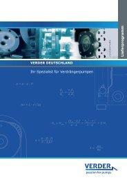 Lieferprogramm - Verder Deutschland GmbH