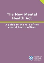 A Guide to the Role of the Mental Health Officer - Mental Welfare ...