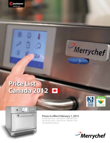 Price List Canada 2012 Prices in effect February 1 ... - View Website