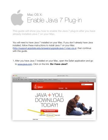 Getting started with mplus version 7 for mac os x and linux mac os x enable java 7 plug in ccuart Choice Image
