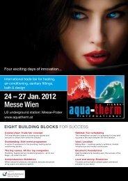 24 – 27 Jan. 2012 Messe Wien - Aquatherm Vienna