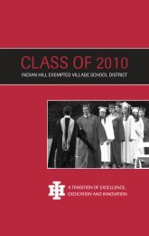 Class of 2010 - Indian Hill School District