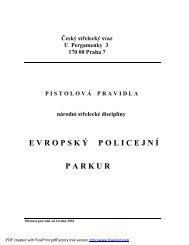 Pravidla EPP - Český střelecký svaz