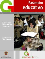 Parámetro educativo - Gobierno del Estado de México