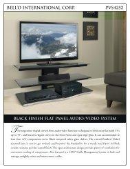 bell'o international corp. pvs4252 black finish flat panel audio/video ...