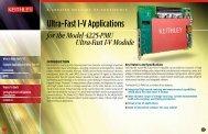 Ultra-Fast I-V Applications