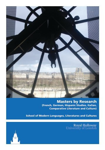 Modern Languages - Royal Holloway, University of London