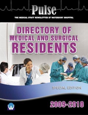 Residents Directory 2009 - Waterbury Hospital