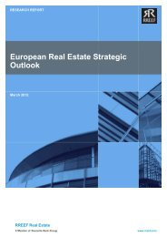 European Real Estate Strategic Outlook | March 2012 - Rreef