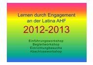 Lernen durch Engagement an der Latina AHF - Latina August ...