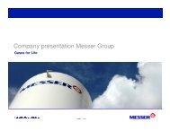 Company presentation Messer Group