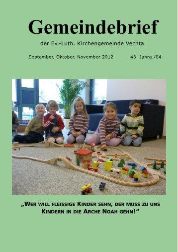 Gemeindebrief - Evang.-Luth. Kirchengemeinde Vechta