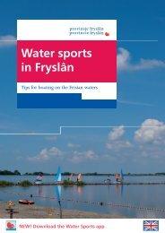 Water sports in Fryslân - Provincie Fryslân