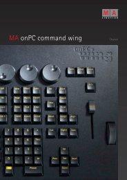 MA onPC command wing - MA Lighting