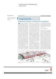 Kongressberichte - HWP Planungsgesellschaft mbh