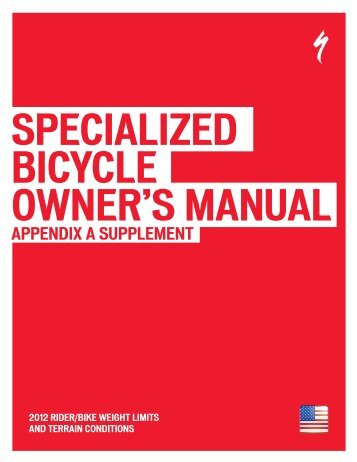 specialized bicycle owner s manual specialized bicycles rh yumpu com specialized road bike owners manual Specialized Hybrid Bikes