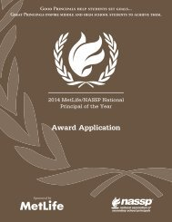 Award Application - National Association of Secondary School ...