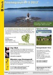 Föreningsnytt nr 3 2012 - Marks kommun