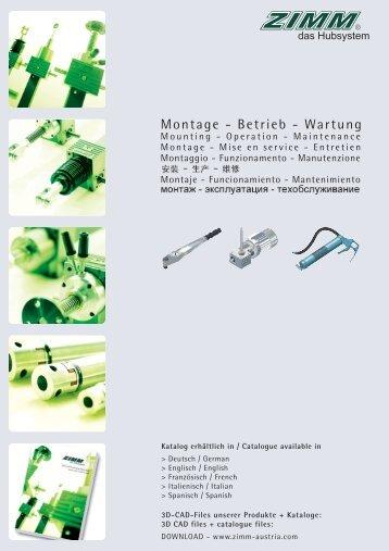 Montage - Betrieb - Wartung - на ServoTechnica.Ru!