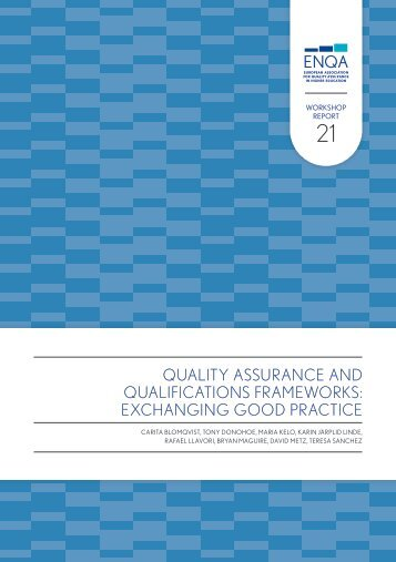 Quality Assurance and Qualifications Frameworks ... - ENQA