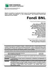 Fondi BNL - BNP Paribas Investment Partners