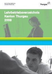 Lehrbetriebsverzeichnis Kanton Thurgau 2008